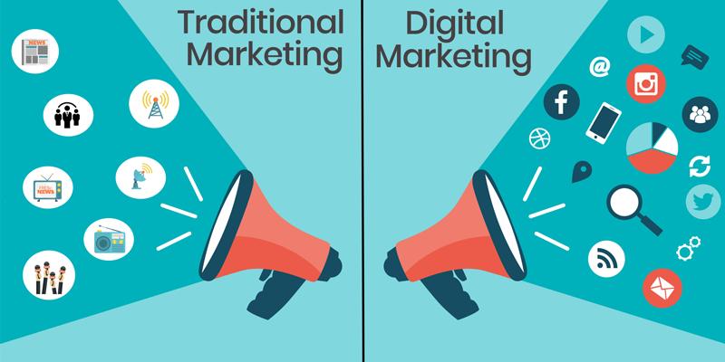 Difference between Digital Marketing vs Traditional Marketing - Pixel  Weavers